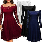 Women Floral Lace Formal Cocktail Evening Wedding Party Dress Short Mini Dress