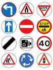 Road Signs traffic signs Edible Toppers Wafer or Icing cupcake x 12 Decoration