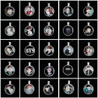 Lot of & Fashion Kpop BTS Bangtan Boys Silver Leather Pendant Necklace