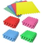 Kids Eva Foam Children Soft Play & Exercise Mats Safe Interlocking Solid Tiles