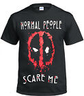 NEW DEAD POOL NORMAL PEOPLE SCARE ME GILDAN COTTON T SHIRT/DOPE/SWAG/HIPSTER/TOP