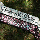 Personalised Fabric Sashes Floral Vintage Retro Hen Party Bride to Be Keepsake