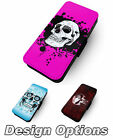 Skull Designs 2 Printed Faux Leather Flip Phone Cover Inspired Parody #1