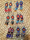 Boho Chic Chandelier Fringe Southwestern Tribal Bead Earrings Coachella