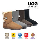 UGG Boots Short Ladies Fashion Crystal Button - Australian Sheepskin, Waterproof