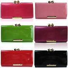 LYDC Trifold Ladies Bobble Matinee Clasp Purse Patent Women Wallet Girl Notes UK