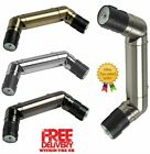 28mm Metal Curtain Pole Corner Joint Knuckle Bracket Elbow Angle DOUBLE Bend