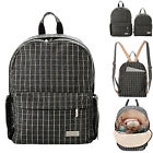 Checked Small Baby Diaper Bag Backpack Changing Bag Nappy Bag Travel 2 Sizes