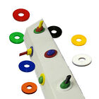 Coloured Nylon M12 FORM A Washers Black White Red Blue Green Yellow Orange