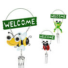 GARDEN OUTDOOR HANGING METAL FROG BEE LADYBIRD WIND CHIME BELLS WINDOW PORCH