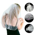 Bride to Be Hen Night Veil with Comb Christmas Party Fancy Dress Costume