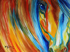 modern decor abstract art painting horse Giclee Fine Art Print Repro on Canvas