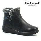 LADIES SKECHERS MEMORY FOAM ANKLE BLOCK HEEL CHELSEA BUCKLE BOOTS SHOES SIZE NEW