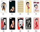 New Designs Betty Boop Case for iPhone 4 5G 5C 6 7 8 Galaxy S3 S4 S5 S6 S7 S8 $9.9 USD