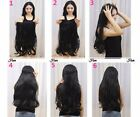 Handmade Body Wave Halo Secert Invisible Wire 100% Real Human Hair Extensions