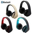Wireless Bluetooth Headset Stereo Headphones Earphones With Mic For iPhone 7 6 5