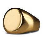 9Carat Gold Filled Mens Signet Wedding Band Pinky Ring Heavy Size N P Q R U W