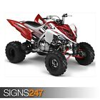 YAMAHA 700R RAPTOR WHITE AND RED (AC041) ATV POSTER - Poster Print Art A1 A2 A3