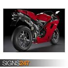 DUCATI 1098 SUPERBIKE 3 (AC529) BIKE POSTER - Photo Poster Print Art * All Sizes