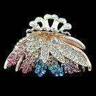 new women jewelry hair extension crystal barrette accessories flower clip comb