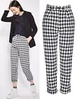 Topshop Gingham Mensy Trousers New Season Sizes 4 to 16