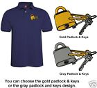 Embroidered LOCKSMITH - LOCK & KEY  Polo Shirt ~ Choose From 6 Shirt Colors