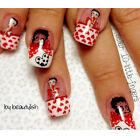 BUY 3,GET 1 FREE! ~Betty Boop Nail Decals~ Nail Art/Stickers/Caviar Beads $3.96 CAD