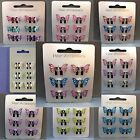 6pc Brightly coloured Metal Mini Butterfly Clamps Girls & Women Hair accessories