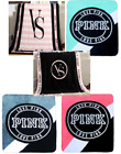 Victoria's Secret Love Pink Plush Throw Blankets - Any Color -Free U.S. Shipping image