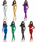 11Colors.Unisex Spandex Lycra Disco Wear Metallic Zentai Suits Back Zipper S-XXL