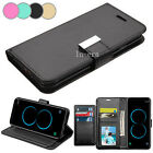Black Strap Leather Flip Wallet Protective Case Cover For Samsung Galaxy S8 Plus