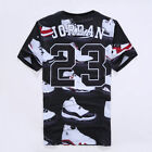 2017  New Women/Men Jordan 23 Letter 3D Print Casual short sleeve T-Shirt QSX32