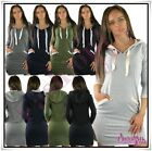 Women's Tunic Dress Summer Casual Everyday Hooded Mini Dress One Size 8,10,12,14
