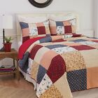 Liberty Americana Patchwork Quilt Set in Queen,King or Twin Quilt Plus Shams C&F