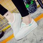 New Fashion Womens leisure shoes Lace up Canvas walking Hiking Flats shoes US5-9