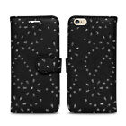POLKA DOT SPOTS LEATHER BOOK WALLET CASE COVER FOR APPLE iPHONE 4S 5C 5S SE 6S 7