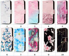 For Samsung A310 Marble Patterned Flip Stand Magnet Wallet Case With Card Slots