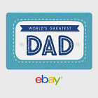 eBay Digital Gift Card Happy Father's Day World's Greatest Dad - Email Delivery