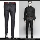 goth visual aristocrat vampire lacing strap red band skinny dress pants【JPK285】