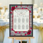 Personalised Wedding Table Seating Plan Names Numbers N162 Large A1 A2 A3 Print