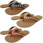 Coach Womens Cascade Casual Slip On Thong Flip Flops Studded Flats Sandals