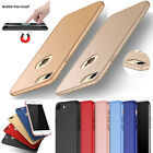 Glass Protector +Frosted Ultra Slim Matte Hard Back Case Cover Colors For iPhone