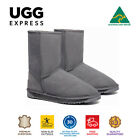 100% Australian Made 3/4 UGG Boots Grey, Short Classic, Premium Sheepskin