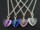 GLASS HEART PENDANT NECKLACE WISH RICE URN PERFUME MEMORIES MEMORIAL CHAIN GIFT