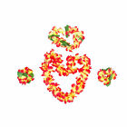 Hawaiian Flower Lei Necklace Garland Headband Hula Party Beach Set Fancy Dress