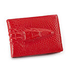 Women Men Genuine Leather Crocodile Wallet License Document ID Card Holder Case
