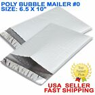 100 Poly Bubble Mailers Padded Shipping Envelopes Self Sealing Bags 6.5x10 - #0