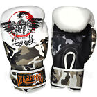 Warrior Muay Thai Kick Boxing Air Gloves Brown White 02 Camouflage Sparring