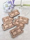 Personalised Wooden Drink Ticket Tokens Wedding Favour Table Confetti