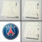 PSG 2016-17 home, official printings MONBLASON name sets, printings